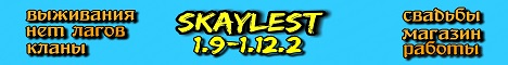 Баннер сервера Майнкрафт SkayLest