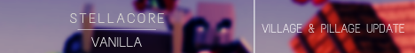 Баннер сервера Майнкрафт Stellacore | Vanilla