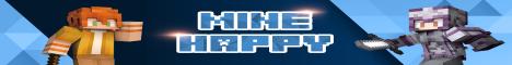 Баннер сервера Майнкрафт Minecraft Happy
