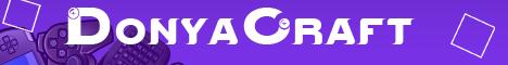 Баннер сервера Майнкрафт DoNya CraFt
