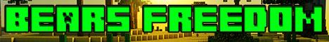 Баннер сервера Майнкрафт Bears Freedom