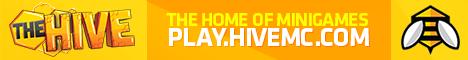 Баннер сервера Майнкрафт HiveMC
