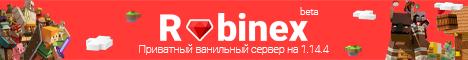 Баннер сервера Майнкрафт Rubinex