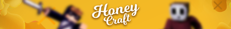 Баннер сервера Майнкрафт Honey Craft