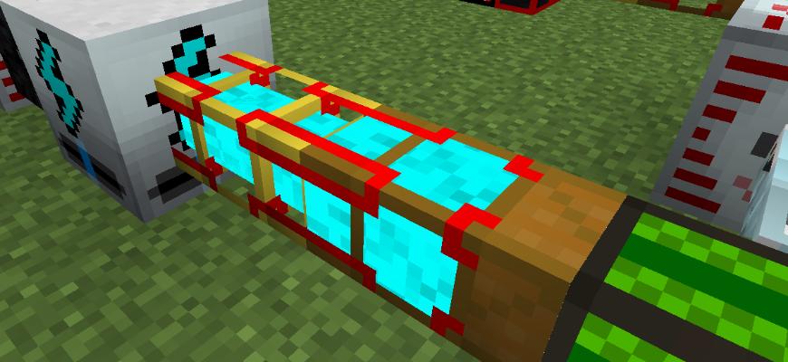Интересное механическое устройство из игры Minecraft.