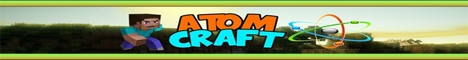 Баннер сервера Майнкрафт AtomCraft