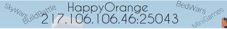 Баннер сервера Майнкрафт HappyOrange