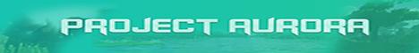 Баннер сервера Майнкрафт Project Aurora