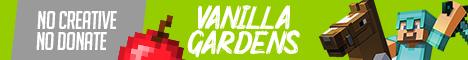 Баннер сервера Майнкрафт Vanilla Gardens