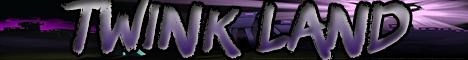 Баннер сервера Майнкрафт Twink Land