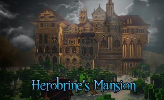 Презентация Herobrine's Mansion на серверах Hypixel